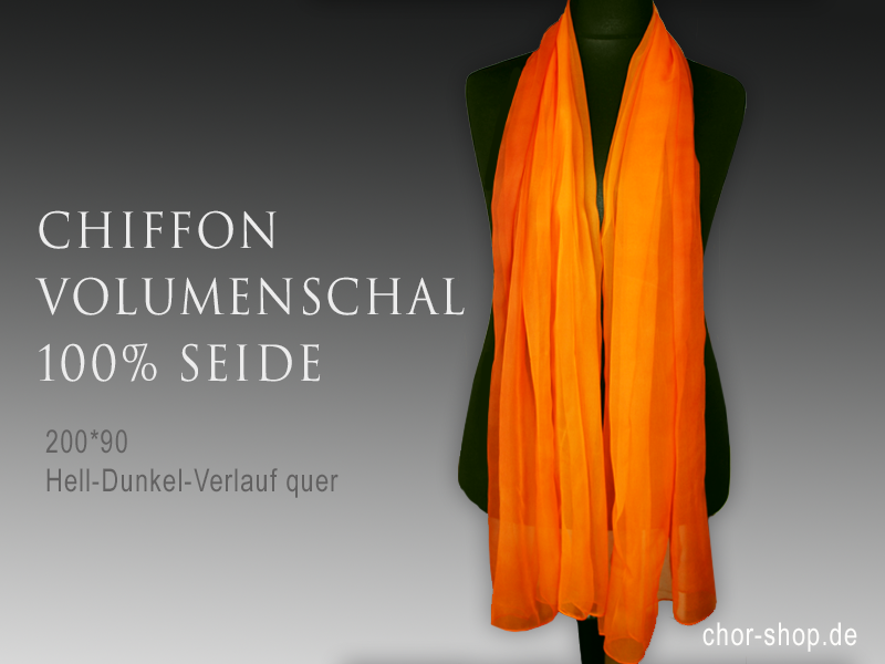Volumenschal Chiffon 200*90 - orange
